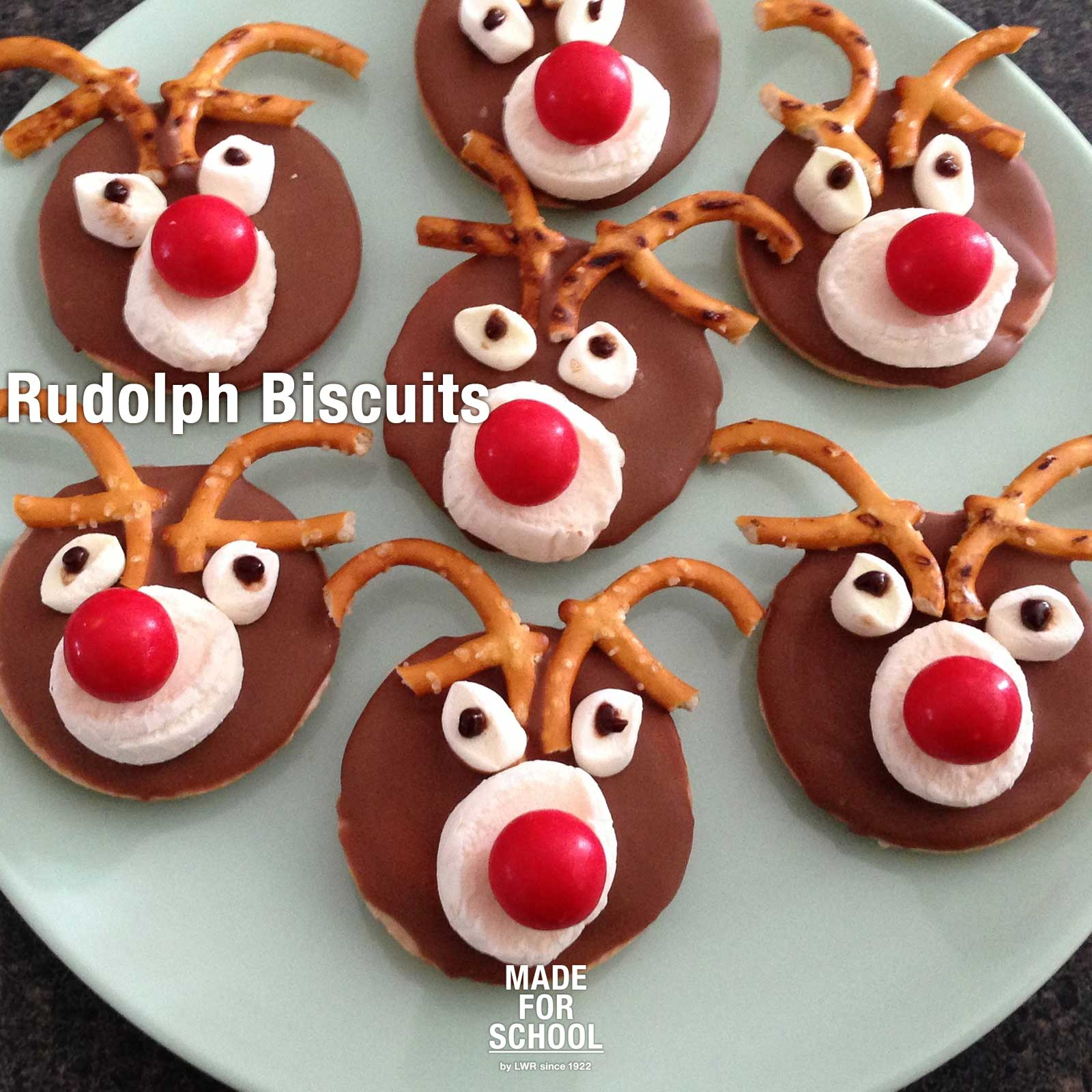 Recipe Rudolph Biscuits Made For School