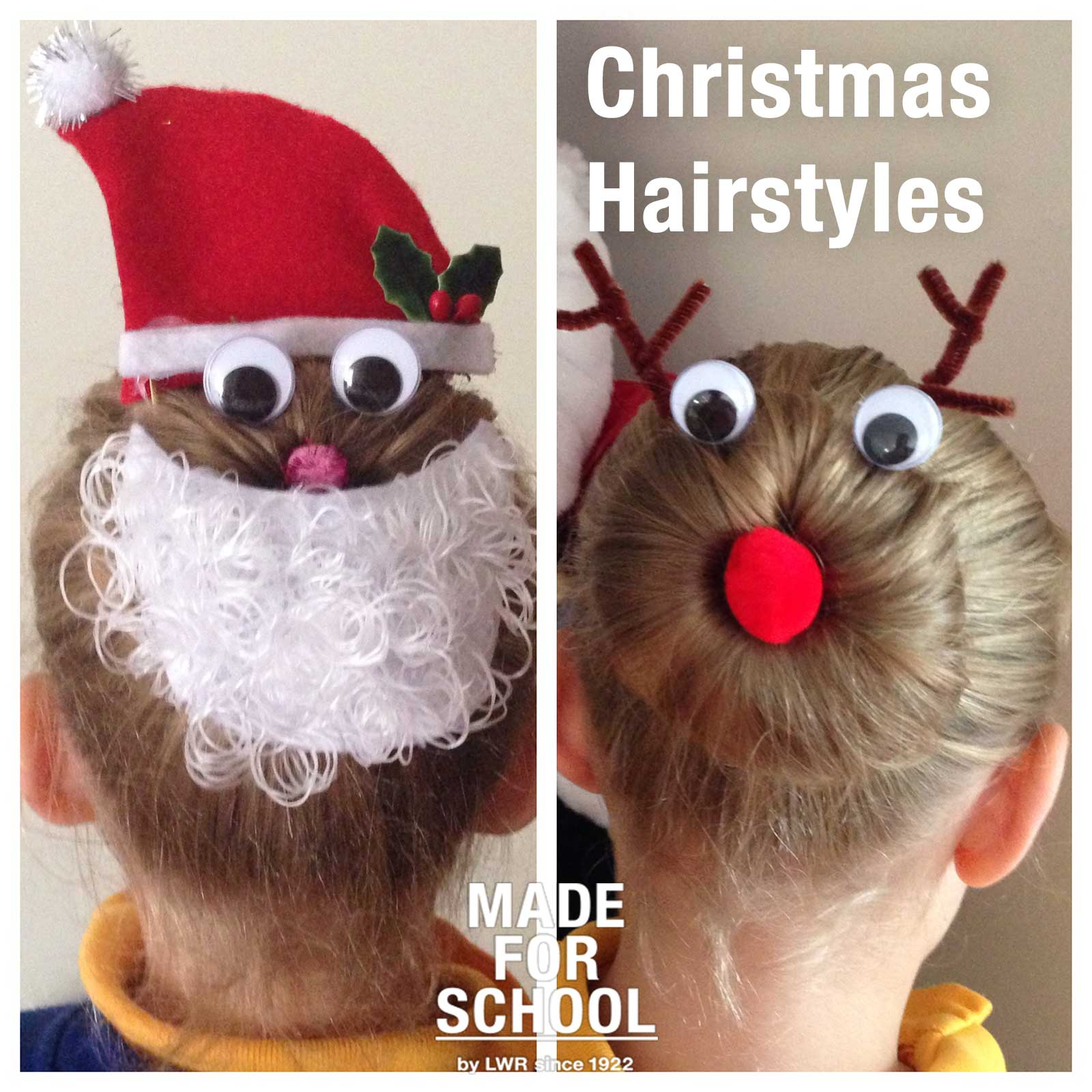 Christmas Hairstyles Girls Made School