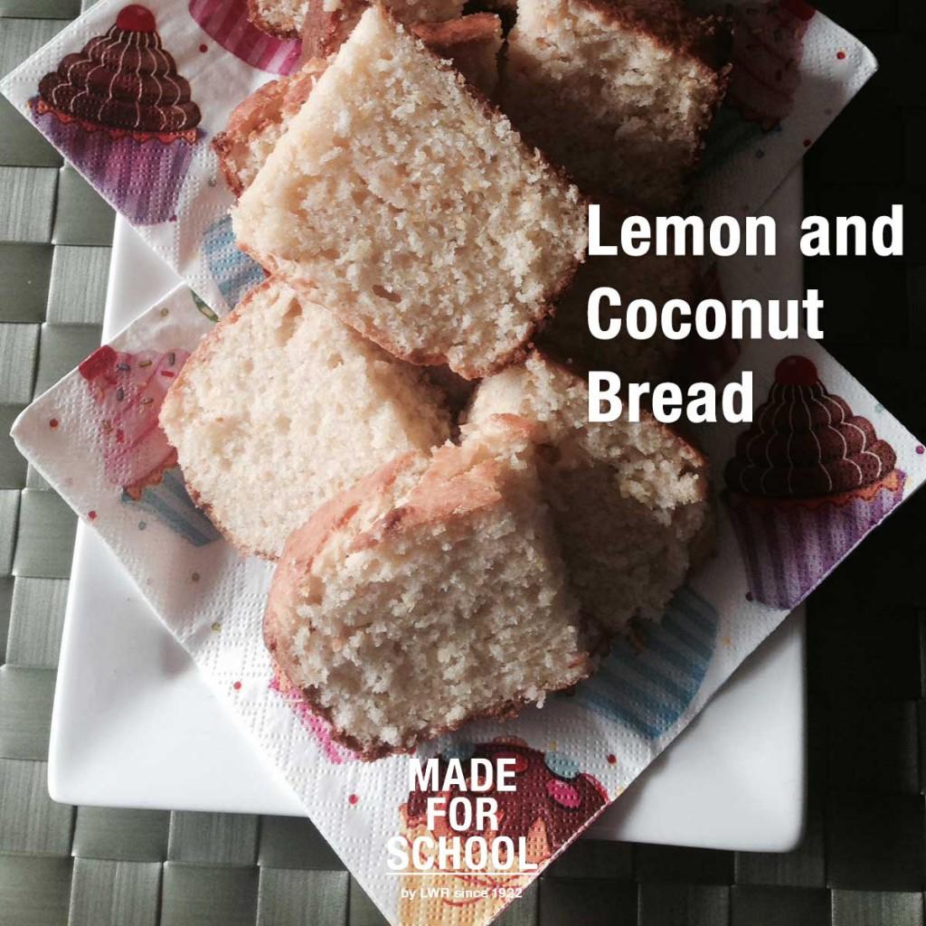 lemon and coconut bread recipe