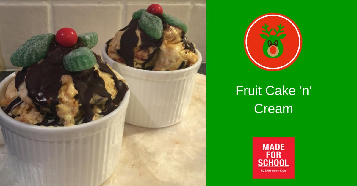 Recipe for fruit cake ice cream