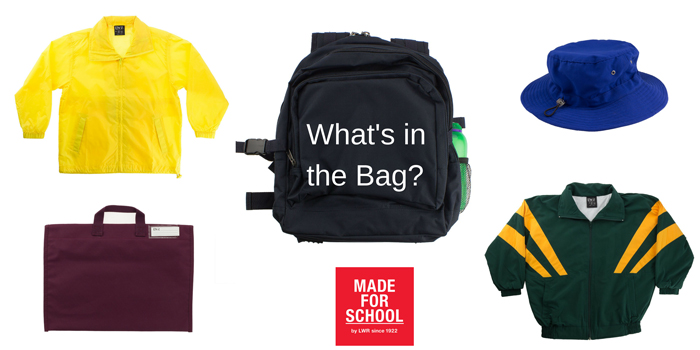 Packing a school bag