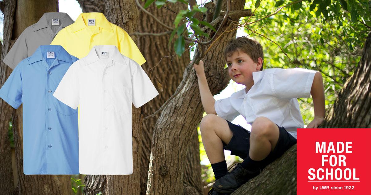 GEAR: Deakin Boys' Short Sleeve School Shirt