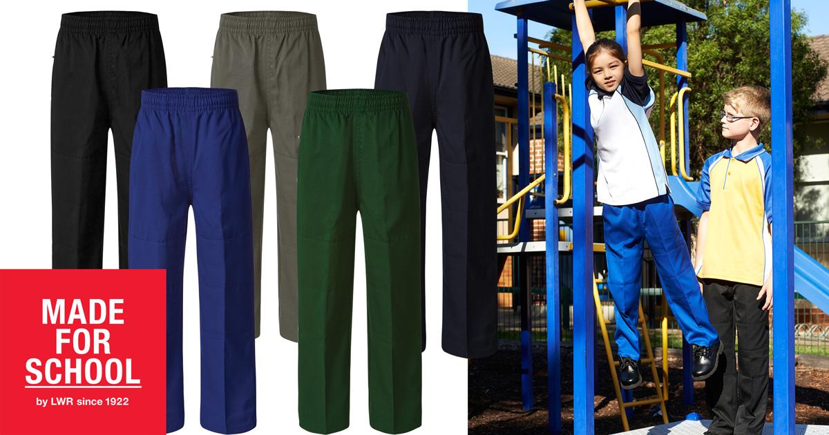 Double Knee School Pants