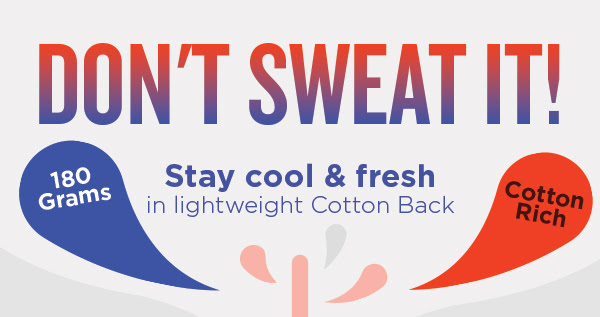 Don't sweat it