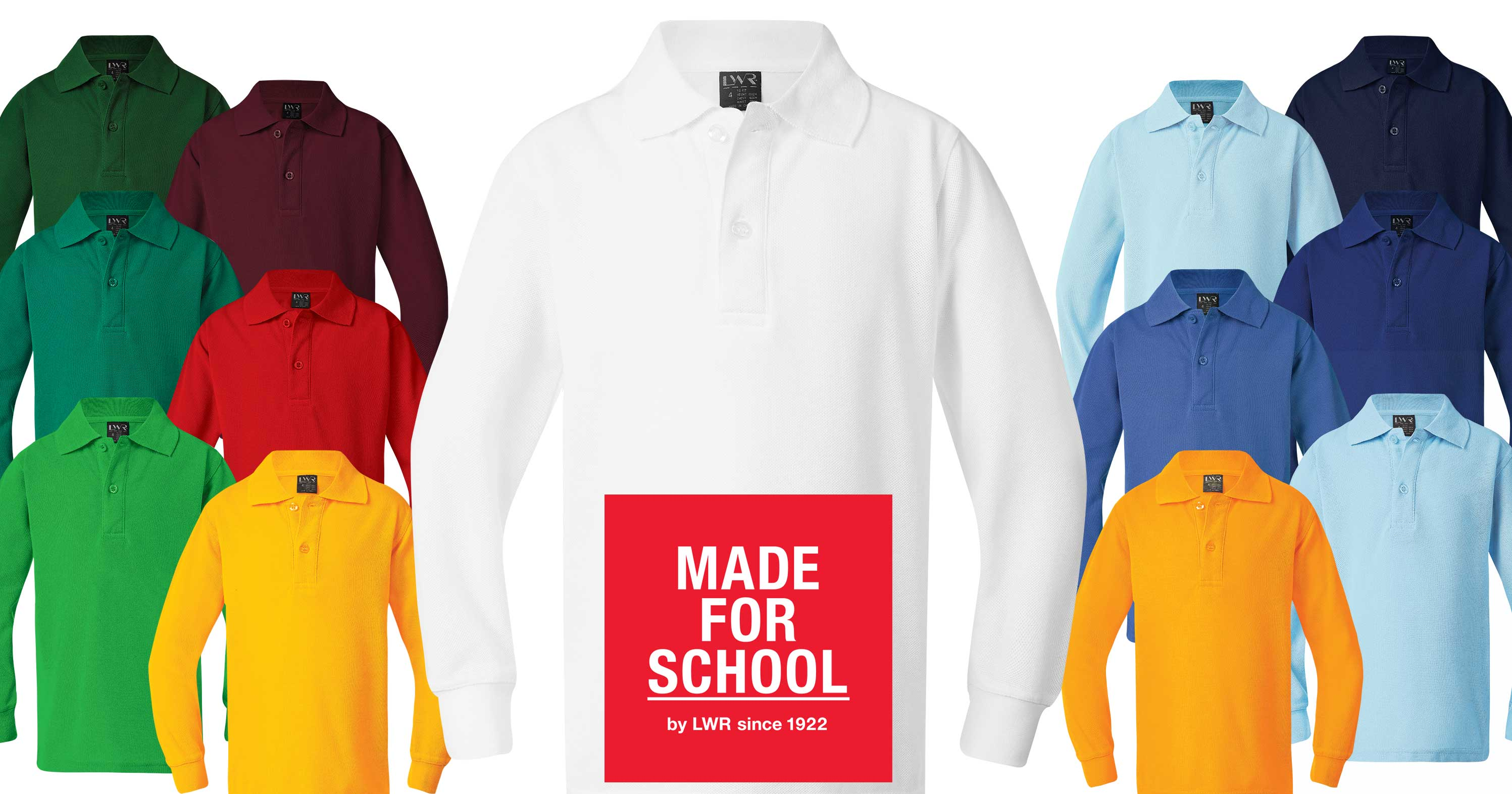 Long Sleeve School Polo Shirts Online